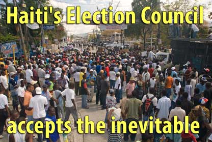Haiti's Election Council accepts the inevitable - November 23, 2009