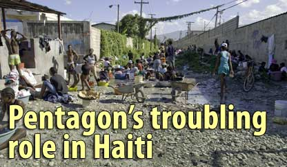 Pentagon's troubling role in Haiti - January 12, 2008