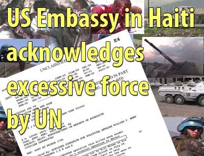 US Embassy in Haiti acknowledges excessive force by UN - January 24, 2007