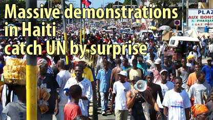 Massive demonstrations in Haiti catch UN by surprise - February 9, 2007