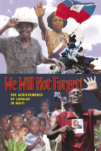 Haiti Action Committee pamphlet: We Will Not Forget